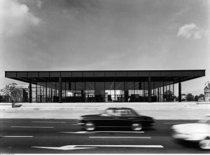 New National Gallery for Modern Art in Berlin designed by Mies van der Rohe 1968