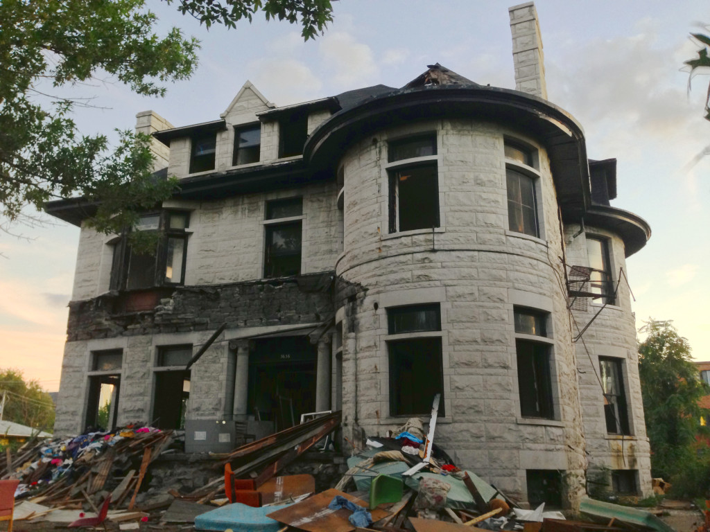 The Charles H. Ducker Residence (1896) at 3636 Page Boulevard is being demolished. The historic mansion lacked any protection under the city preservation ordinance.