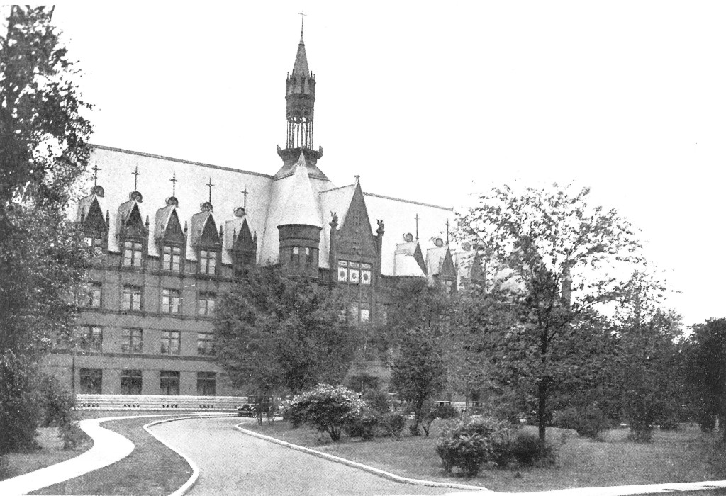 A prominent French Renaissance Revival landmark, the Visitation Academy (1891, Barnett, Haynes & Barnett; demolished).