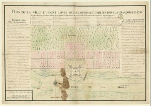 Adien Pauger and Pierre Le Blond de la Tour's plan for New Mobile (1711). National Library of France