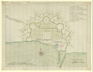 Pierre Le Blond de la Tour's  plan for New  Biloxy (1722) National Library of France