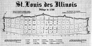 Pierre Laclede's Urban Plan for Saint Louis, 1780 map.