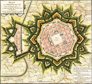 The new town of Neuf-Brisach, designed by Sebastien Vaubon (1699) National Library of France