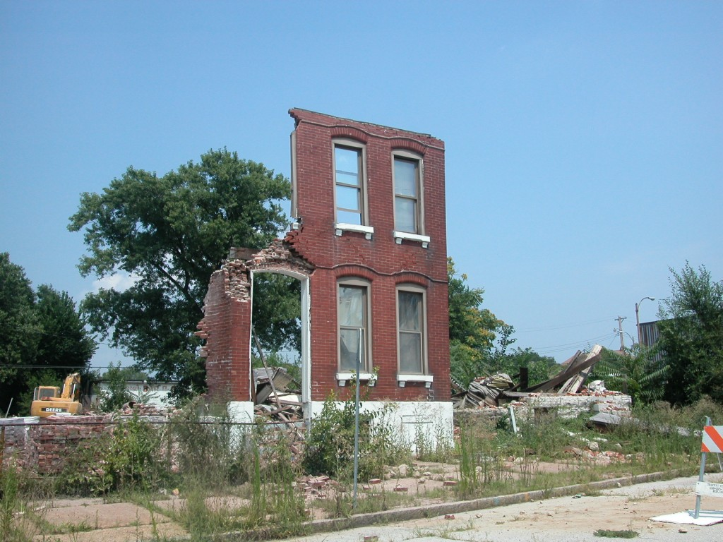 The dwelling at 2569 in St. Louis Place, demolished in 2008.
