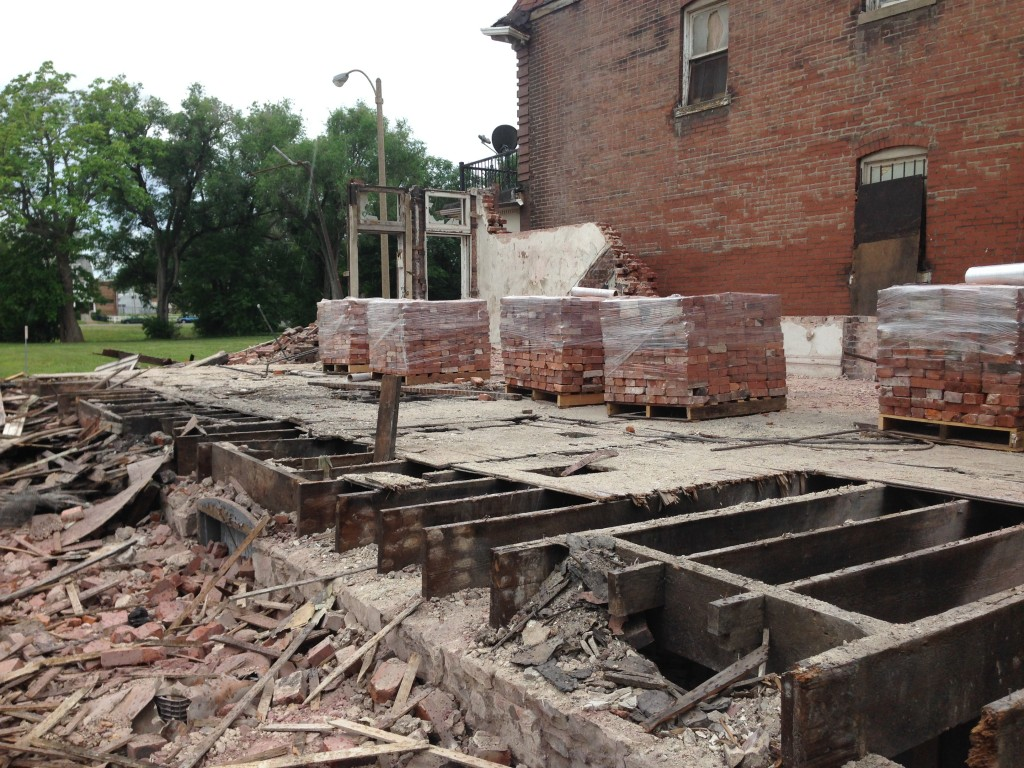 Demolition on the 4200 block of Evans Avenue, June 2014.