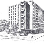 Rendering of the Parkview Apartments, 4494 West Pine Boulevard, 1970. Source: St. Louis Housing Authority.