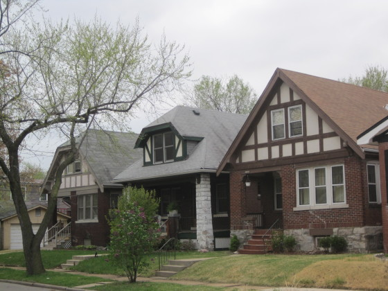 Dwellings on Alfred Avenue in the earlier Shaw's Vandeventer Addition subdivision.
