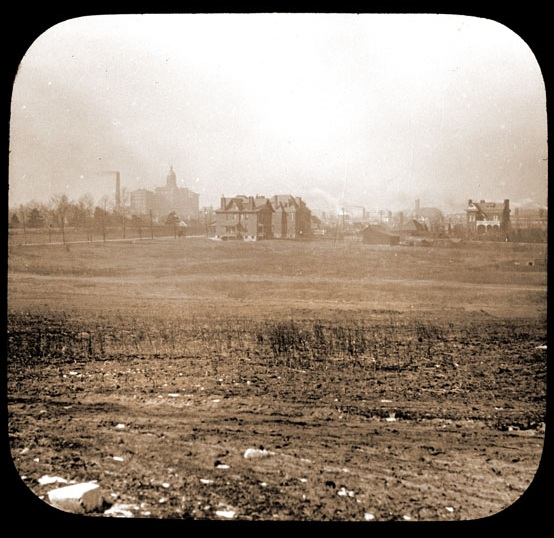 The land that would become the district as seen in 1898. Source: Archive of the Missouri Botanical Garden.